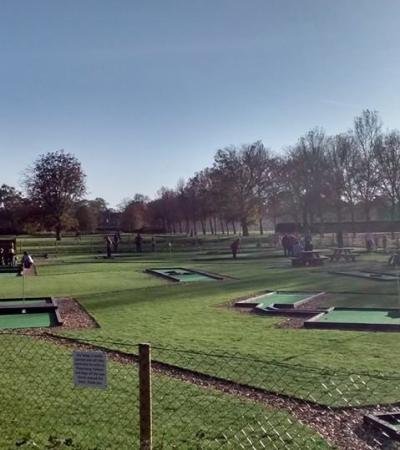Golf course at Eaton Park Pitch and Putt in Norwich