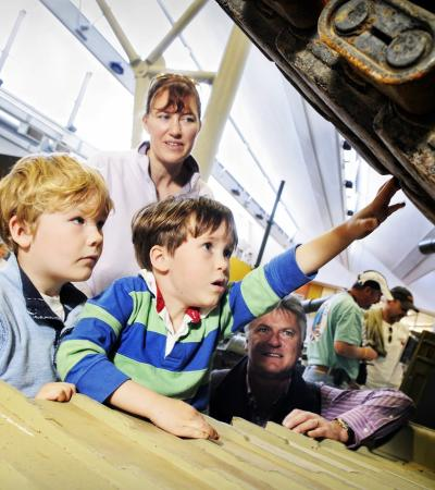 Family at The Tank Museum in Bovington Camp