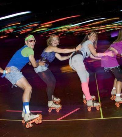 People rollerskating at Roller City Rochdale