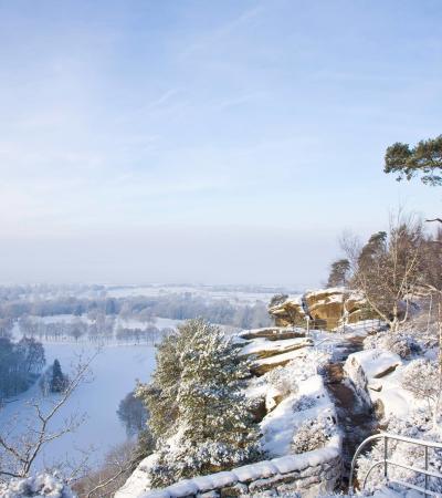 View from Hawkstone Park Follies in Shrewsbury
