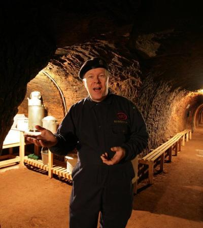 Tour guide at Air Raid Shelters in Stockport