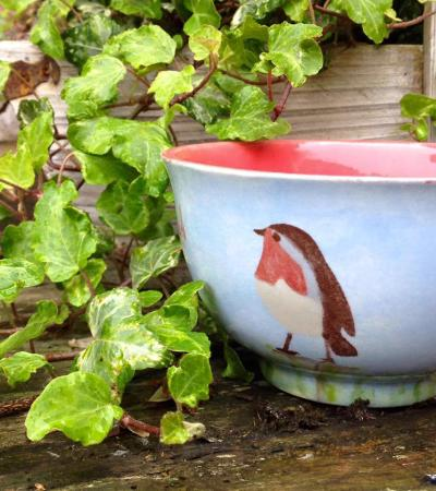 Painted ceramic bowl at Doodles Pottery Painting in Spalding
