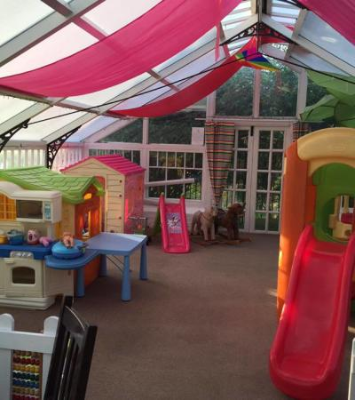 Indoor play area at Blooming Kids in Weymouth