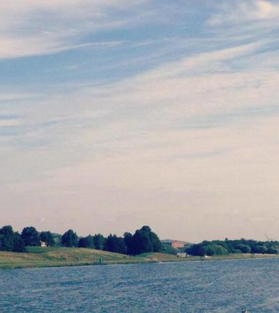 River at Holme Pierrepont Country Park in Nottingham