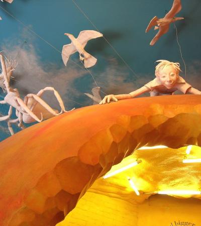 Display at Roald Dahl Children's Gallery in Aylesbury