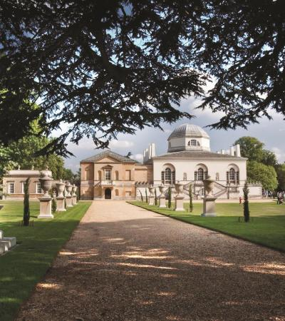 Outside view of Chiswick House & Gardens in London