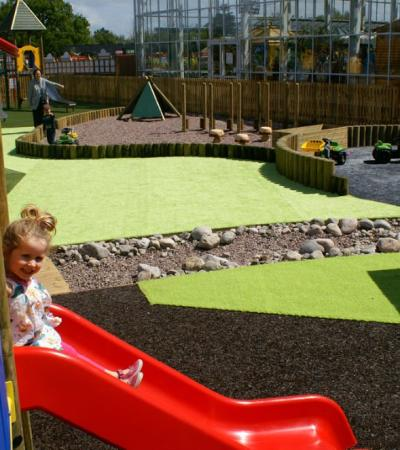 Outdoor play area at Bents Indoor Beach and Adventure Play in Warrington