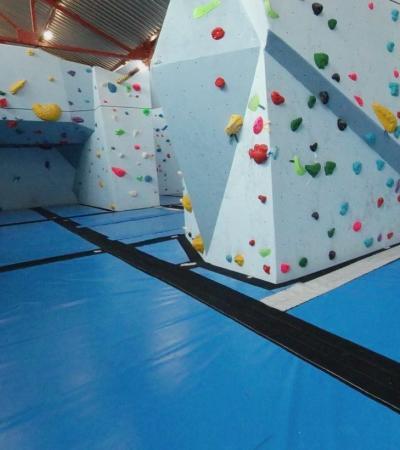 Bouldering walls at Boulder Shack Climbing Gym in Southampton