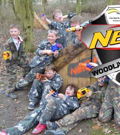 Kids in nerf battle at Belton Pursuits Centre