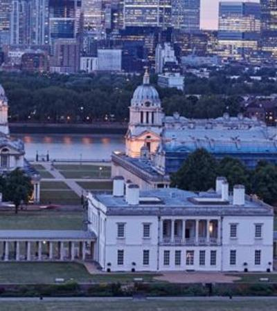 Aerial view of National Maritime Museum in Greenwich