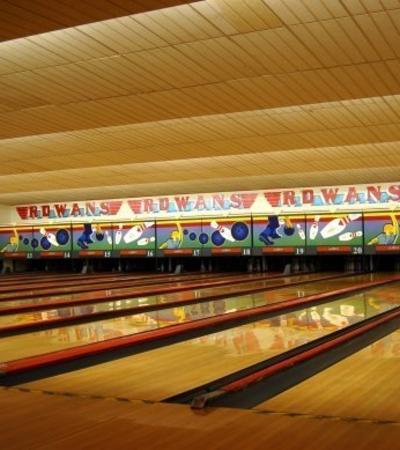 Bowling alleys at Rowans Tenpin Bowl in Finsbury Park