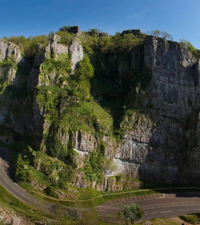 Cliff at Cheddar Caves and Gorge