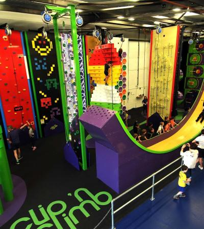 Different climbing courses at Clip 'n Climb Tonbridge