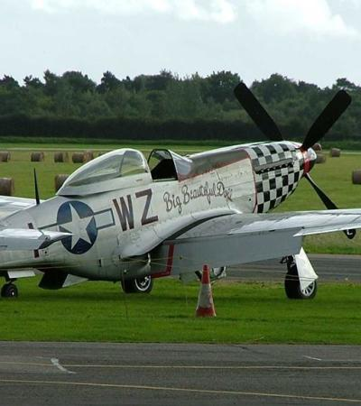 Aeroplane at North Weald Airfield and Museum in North Weald Bassett