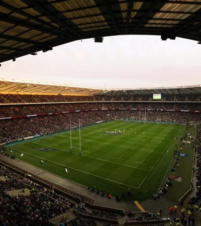 Full stadium at Twickenham Stadium