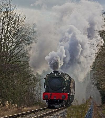 Train at Peak Rail in Matlock