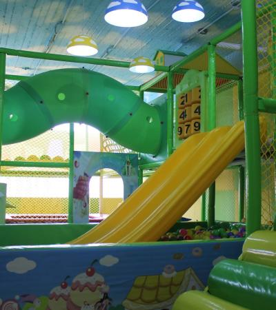 Indoor soft play frame at Crazy Kids Adventure Play in Braintree