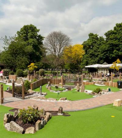 Golf course at Putt in The Park in Wandsworth