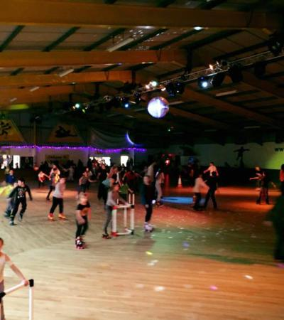 Families roller skating at Wisbech Skaters