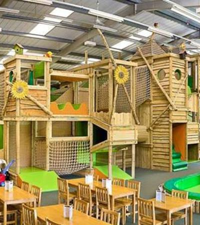 Indoor soft play frame at Come Into Play in Stone