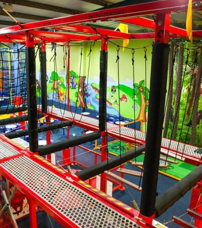 High rope course at Go Kids Go in Dublin