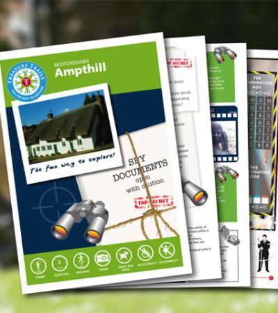 Map and booklet for Ampthill Spy Mission Treasure Trail