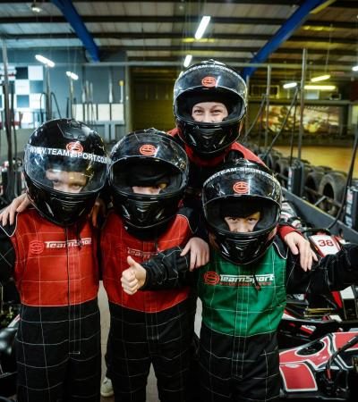 Kids go karting at TeamSport Indoor Karting West London