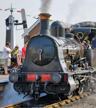 Steam Train at Lincolnshire Wolds Railway in Ludborough