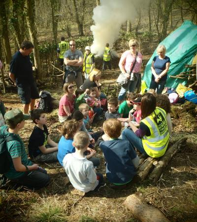 Kids in wildlife and insect trails at Shorpshire Wildlife Trust in Shrewsbury