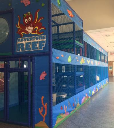Indoor soft play frame at Adventure Reef Soft Play in Farnborough