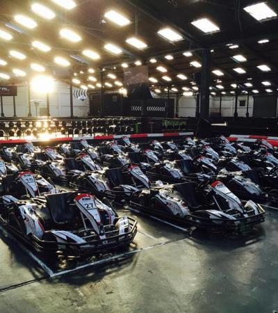 Go karts at Capital Karts in London