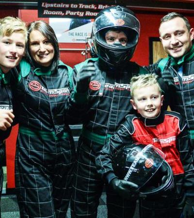 Family at Teamsport Indoor Karting Harlow