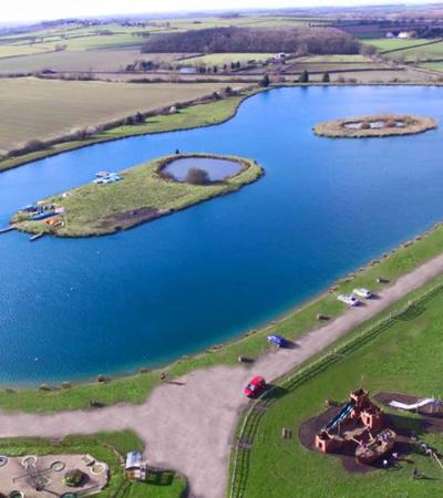Lake at Bosworth Water Trust in Market Bosworth