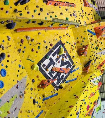 Climbing wall at Foundry Climbing in Sheffield