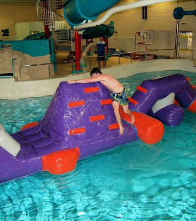 Inflatable assault course in Vale of Leven Swimming Pool in Alexandria