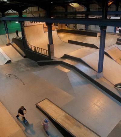 Ramps at Dynamix Skatepark in Gateshead