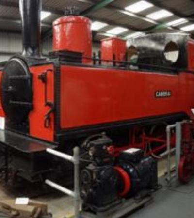 Train exhibit at Irchester Narrow Gauge Railway Museum in Wellingborough