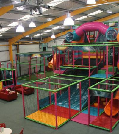 Indoor soft play frame at Runaround Play Centre in Sheffield