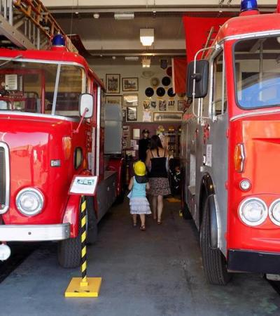 Fire engines at Essex Fire Museum in Grays