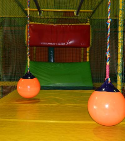 Inside soft play frame at Kidzmania in Hackney