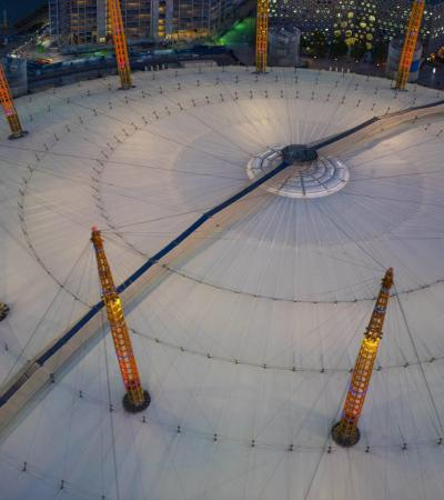 Aerial view of Up at the O2 in London