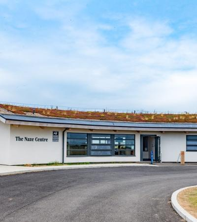 Outside view of Naze Visitor Centre in Walton-on-the-Naze