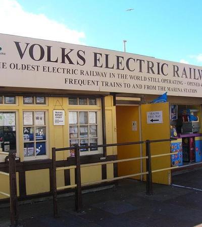 Entrance to Volks Electric Railway in Brighton