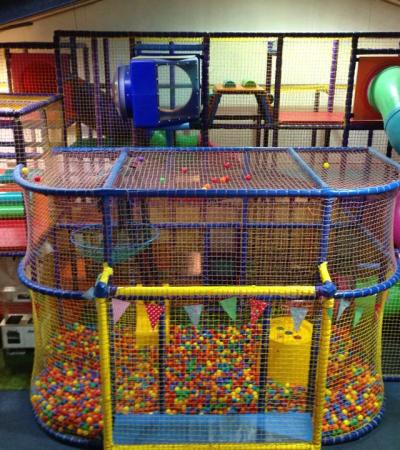 Indoor soft play frame at Chuckles Play Centre in Chesterfield