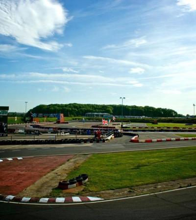 Race track at Ellough Park Raceway in Beccles