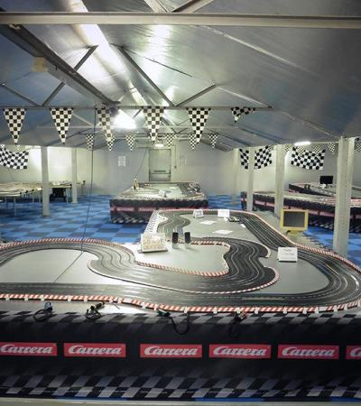 Race track at Scalextric Racing in Spalding