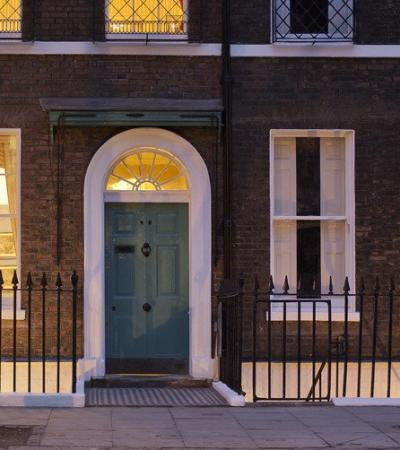 Entrance to The Charles Dickens Museum in London