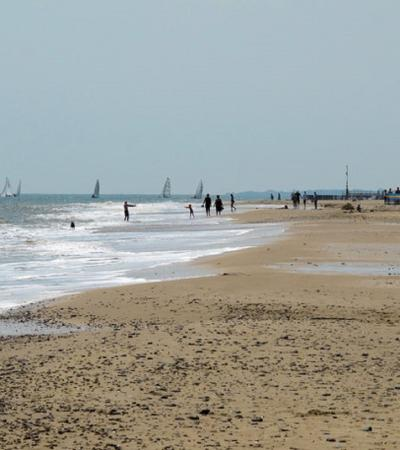 People at The Denes Beach in Southwold