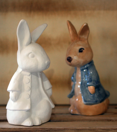 Peter Rabbit pottery at Essex Pottery Studio in Halstead
