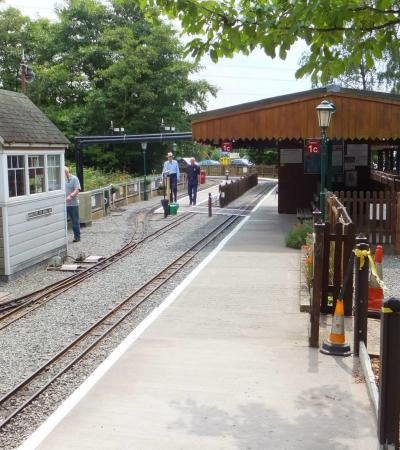 Train station at Eachills Wood Railway in Sutton Coldfield